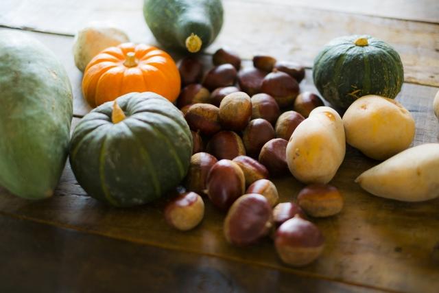 芋、栗、かぼちゃ 秋の味覚
