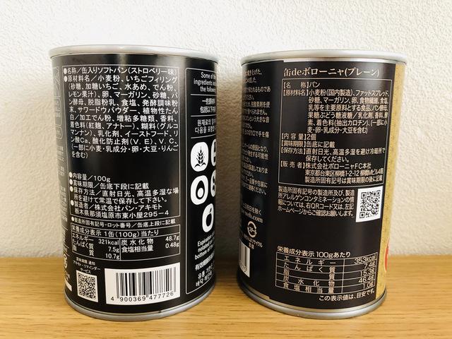 パンの缶詰、比較