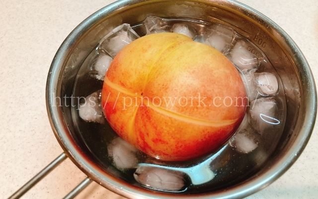 桃の剥き方